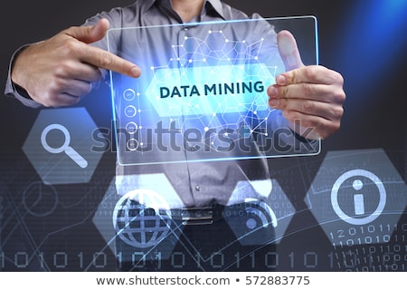 the young businessman in data mining concept foto stock © elnur