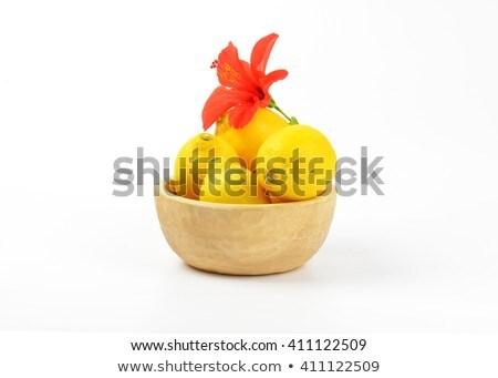 dojrzały · cytryny · czerwony · hibiscus · kwitnąć · biały - zdjęcia stock © digifoodstock