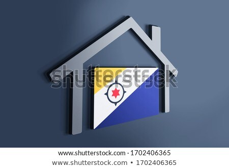 House with flag of bonaire Stock photo © MikhailMishchenko