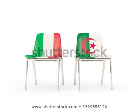 два стульев флагами Италия Алжир изолированный Сток-фото © MikhailMishchenko
