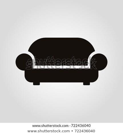 Moderno sofá vetor mobiliário ícone projeto Foto stock © frimufilms