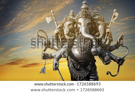 beautiful greeting design of lord ganesha festival Stock photo © SArts