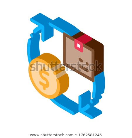 Parcel Payment Postal Transportation Company isometric icon vector illustration Stock photo © pikepicture