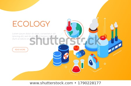 Ecological problems - modern colorful isometric web banner Stock photo © Decorwithme