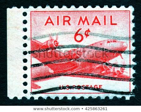 Levegő posta teher repülőgép USA postabélyeg Stock fotó © Snapshot