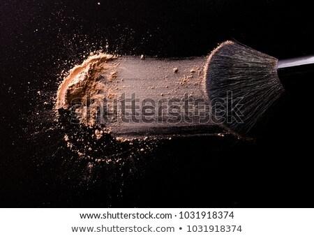 Face powder and applicator closeup Stock photo © moses
