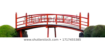 Isolated bridge on blue sky Stock photo © roboriginal