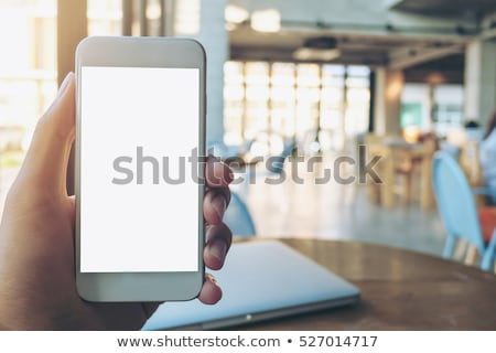 Smart phone with blank screen as mock up copy space Stock photo © stevanovicigor