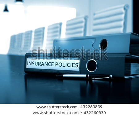 Policies on File Folder. Toned Image. Stock photo © tashatuvango