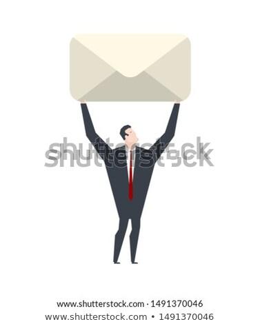 boodschapper · postkantoor · illustratie · witte · kantoor · man - stockfoto © maryvalery