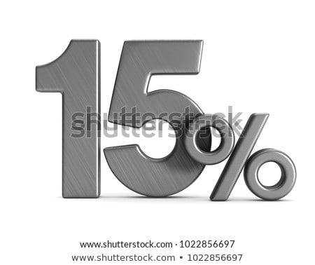 Quinze por cento branco isolado ilustração 3d dinheiro Foto stock © ISerg