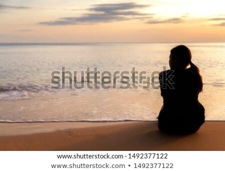 若い女性 リラックス ハンモック ビーチ クローズアップ 砂浜 ストックフォト © AndreyPopov