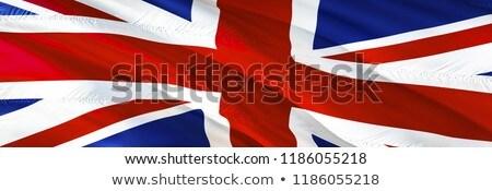 3D renderelt kép zászló brit integet szél Stock fotó © butenkow