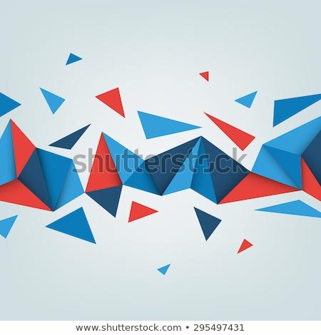 Streszczenie niski banner projektu trójkąt Zdjęcia stock © SArts