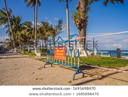 Corona Virus threat closes beaches and public places in many countries. The inscription NOT ALLOWED  Stock photo © galitskaya