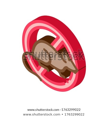 Sign Against Rat isometric icon vector illustration Stock photo © pikepicture