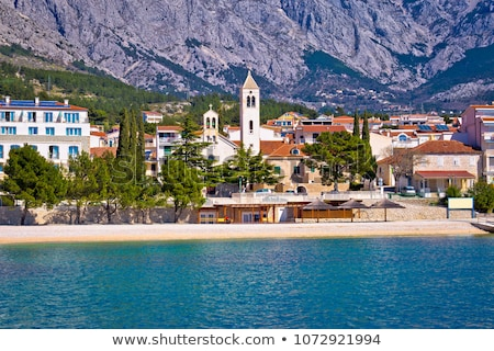 Town of Baska Voda beach and waterfront view Stock photo © xbrchx
