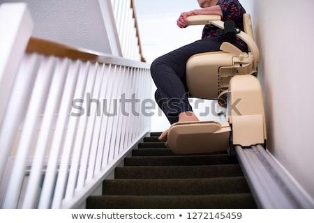 Stoel lift berg hemel Blauw sport Stockfoto © mariephoto