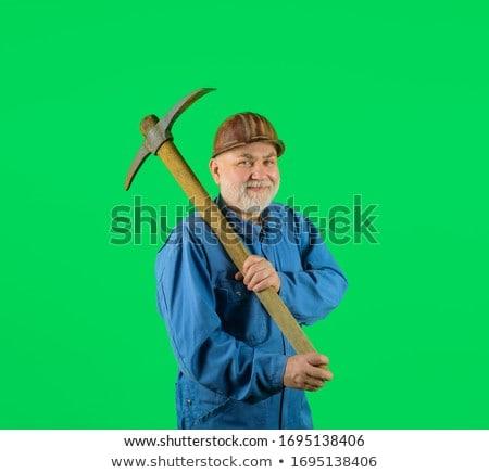 Artesano de trabajo hombre construcción tecnología tierra Foto stock © photography33