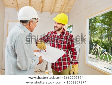 Construction foreman on a building site Stock photo © photography33