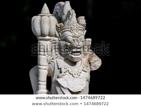 Sculptuur soldaat entree witte tempel gezicht Stockfoto © RuslanOmega