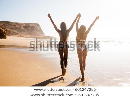 teen girls in red bikini