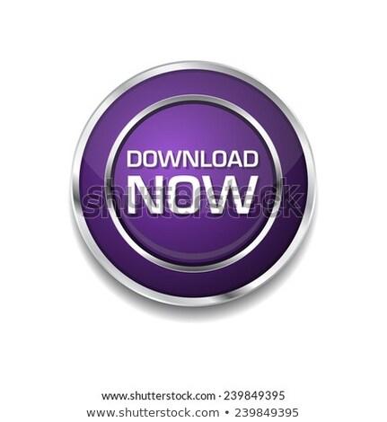 Stock photo: Download Now Purple Circular Vector Button