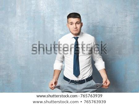 hombre · de · negocios · vacío · aislado · blanco · mano · estilo · de · vida - foto stock © deandrobot