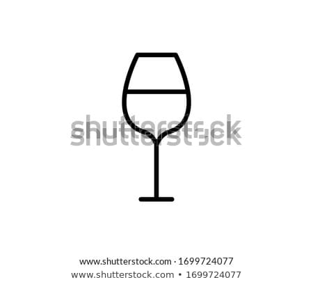 Copos de vinho dois vermelho abstrato limpar cristal Foto stock © SRNR