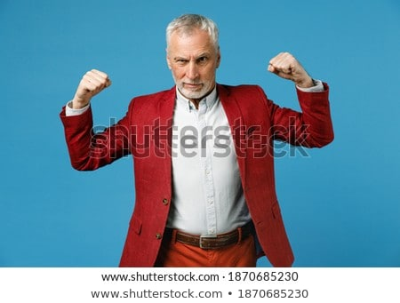Stok fotoğraf: Kırmızı · takım · elbise · işadamı · iş · adamları · iş · para