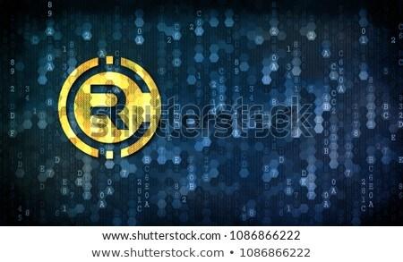 rubycoin   coin symbol on pixelated background stock photo © tashatuvango