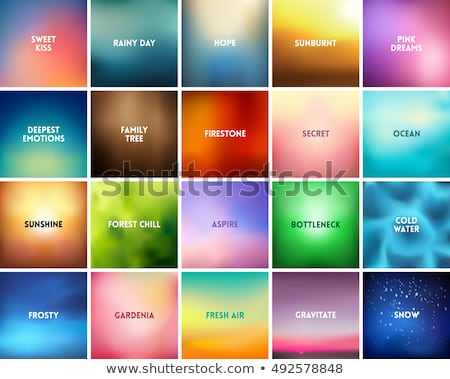 Blurred abstract backgrounds set. Smooth template design for creative decor covers, banners and webs Stock photo © ESSL