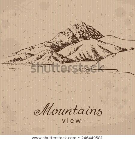 montagne · lac · illustration · gamme · rivière · sport - photo stock © cidepix