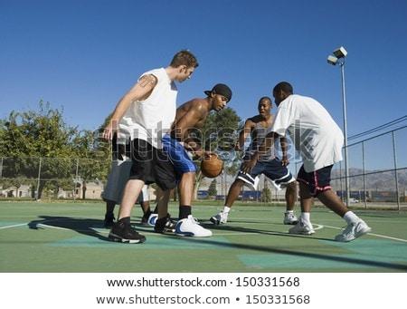 grup · gençler · oyun · alanı · adam · sokak · üzücü - stok fotoğraf © boggy