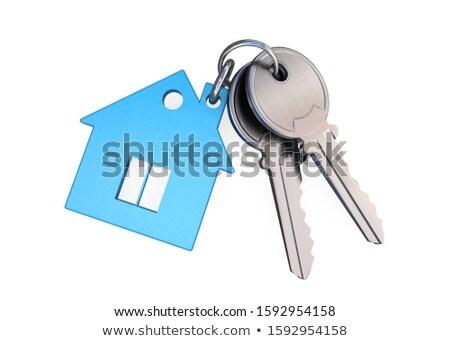 house and keys on white background. Isolated 3D illustration Stock photo © ISerg