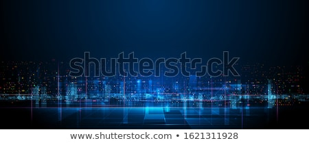 Fast connection in the city. Abstract technology background. Stock photo © alphaspirit