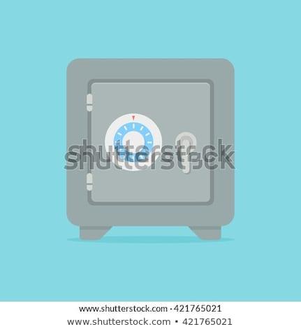 Banco segura icono vector aislado blanco Foto stock © smoki