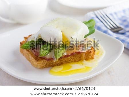 Sandwich with asparagus and egg Stock photo © Alex9500