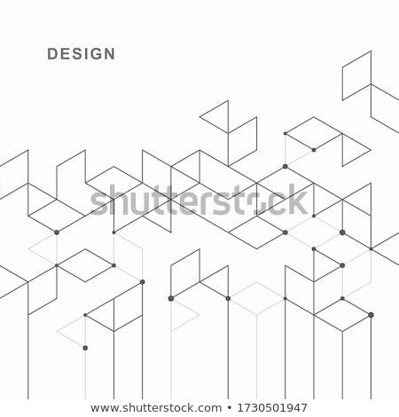 Lijnen logo grafisch ontwerp communie Stockfoto © cidepix