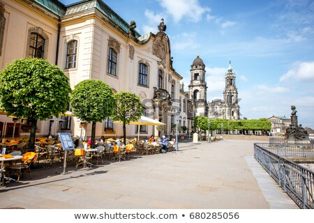 view of Bruhl Terrace, Dresden, Germany stock photo © borisb17