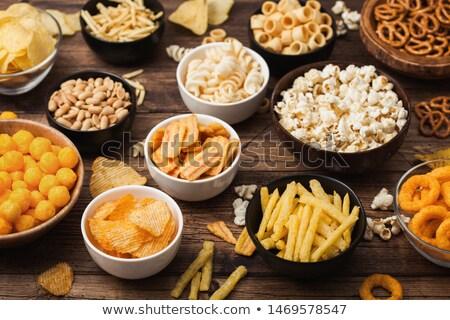 Bier snacks chips steen top Stockfoto © karandaev