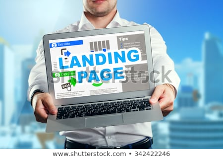 Link budynku lądowanie strona online komunikacji Zdjęcia stock © RAStudio