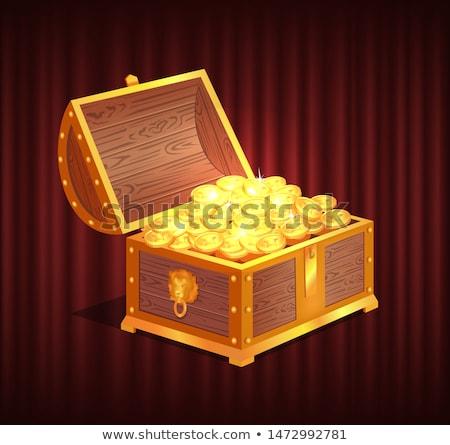ボックス 輝かしい コイン ベクトル オープン ストックフォト © robuart