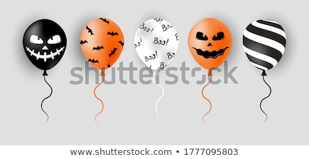 happy halloween sale banner with scary face Stock photo © SArts