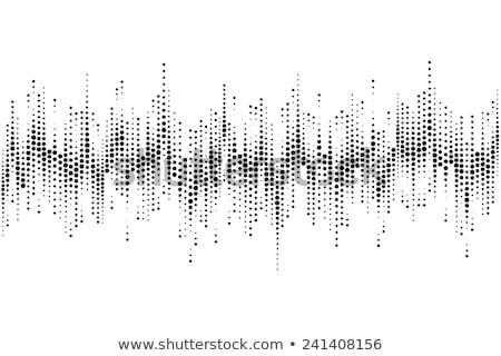 Abstract halftoon geluid spectrum stijl ontwerp Stockfoto © SArts