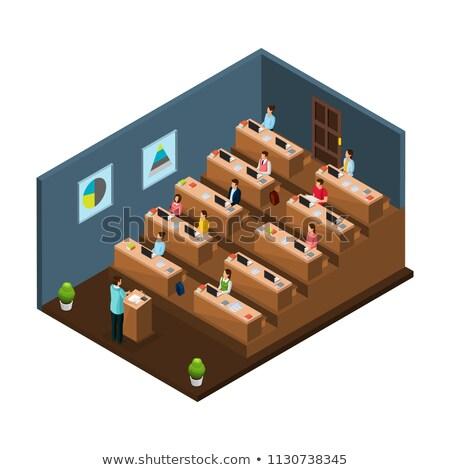 Palestra ouvir sala de aula lição vetor decorado Foto stock © robuart