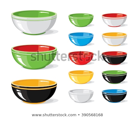 Vase and Plate, Bowl and Pot, Tableware Vector Stock photo © robuart