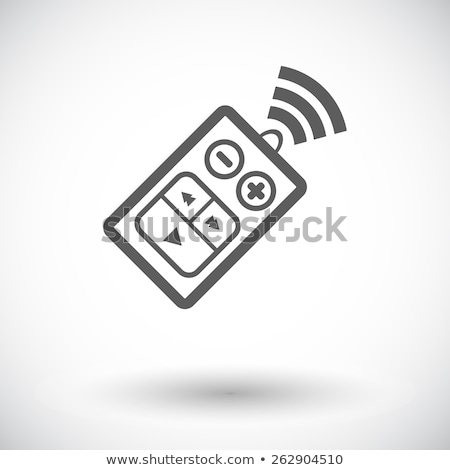 Ontsteking sleutel icon witte auto technologie Stockfoto © smoki