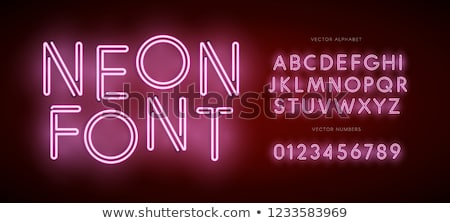 3D Modern Font . Dark modern line alphabet Stock photo © FoxysGraphic