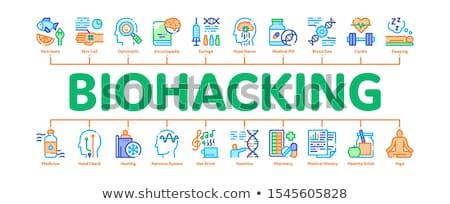 Stock photo: Biohacking Minimal Infographic Banner Vector